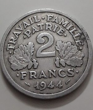 Collectible foreign coins of the beautiful design of France in 1944-yat