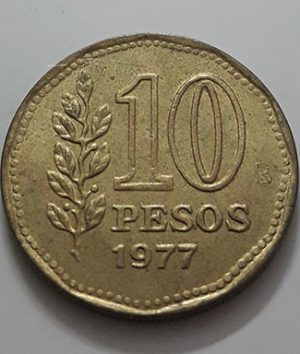 Collectible foreign coins of the beautiful design of Argentina in 1977-jau