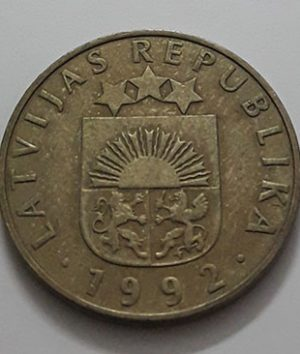 A rare foreign collector coin from Latvia in 1992-aul