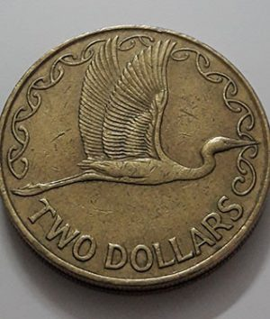 Collectible foreign coin of the beautiful design of New Zealand, the old queen of 2001-aub