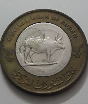 Two-metal collectible foreign coin, beautiful design of Sudan, 2006-aiy