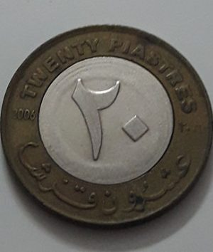 Two-metal collectible foreign coin, beautiful design of Sudan, 2006-yai