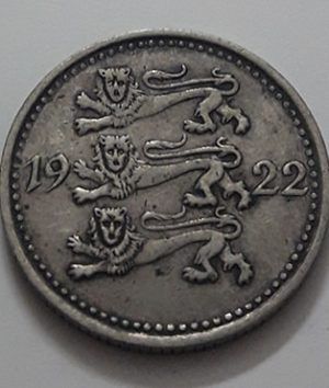 Collectible foreign coin, very rare type, 3 marks, Estonia, 1922-aih