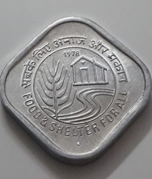 Collectible foreign coins commemorating the beautiful design of India in 1978-aog