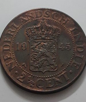 Collectible foreign coin of India, Netherlands, 1945-eqa