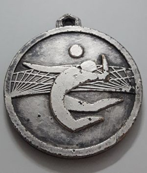 Iranian medal of the Physical Education Organization of the Volleyball Federation of Iran with the emblem of the lion and the sun-raq