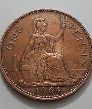 Queen Elizabeth British Penny Collectible Foreign Coin 1964 UK-aqi