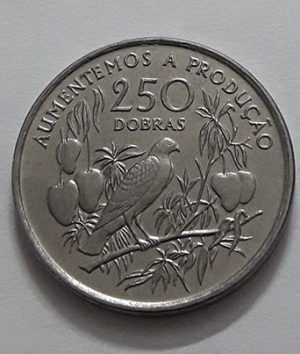 Collectible foreign coins of the island of Sao Tome in 1997-aji