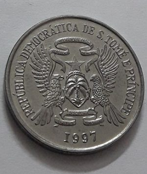 Collectible foreign coins of the island of Sao Tome in 1997-iaj