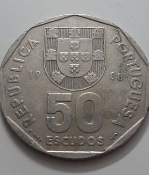 Collectible foreign coin, beautiful design, Portugal, large size, 1988-haq