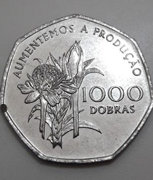 Collectible foreign coin of the rare type of Sao Tome in 1997-ccf