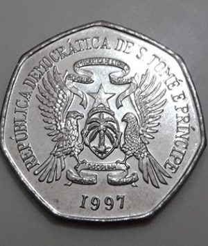 Collectible foreign coin of the rare type of Sao Tome in 1997-fcf