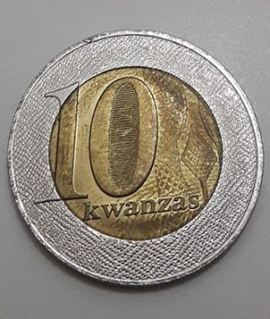 Two-metal collectible foreign coin of rare design in Angola in 2012-jnj