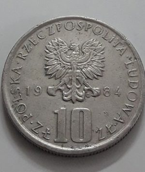 Polish foreign collectible commemorative coin of 1984-yhy