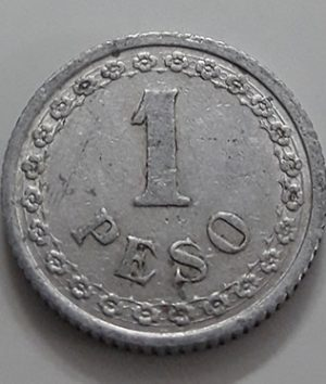 Collectible foreign coin, rare design, 1 peso, Paraguay, 1938-iih
