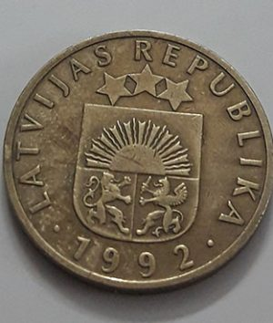 Rare collectible foreign coins of Latvia in 1992-pph
